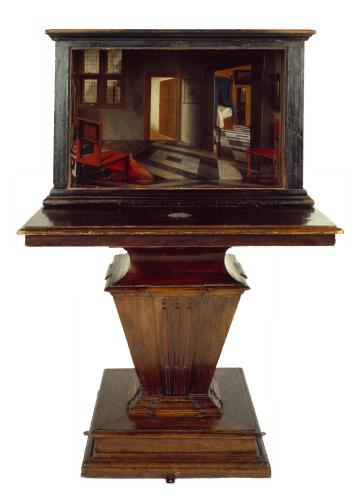 Samuel van Hoogstraten - Peepshow with Views of the Interior of a Dutch House (c. 1655-60)