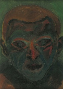 Self-portrait by Georg Trakl, likely painted in Max von Esterle_s studio, Innsbruck, November 1913