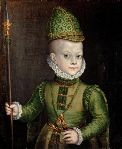 Portrait of a Boy at the Spanish Court, c.1565-70 (oil on canvas)