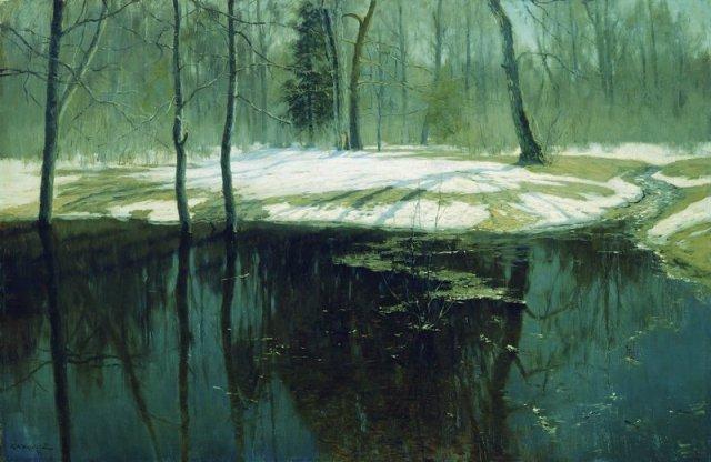 Stanislav Zhukovsky - Spring Flood (1898)
