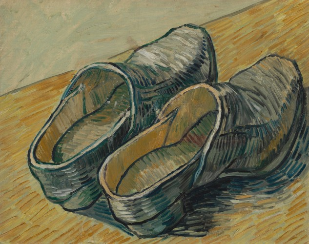 Vincent van Gogh - A Pair of Leather Clogs (1889)