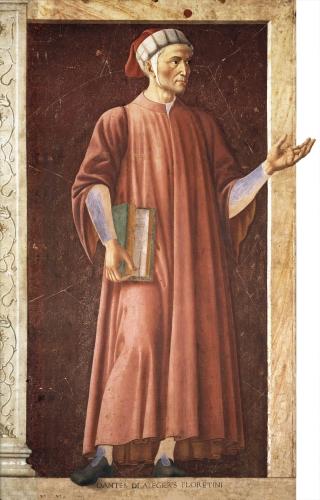 Andrea del Castagno - Portrait of Dante Alighieri (c.1450)