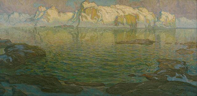 Anna Boberg - Silent Evening - Scene from Lofoten (1910-1914)