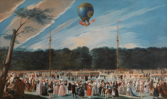 Antonio Carnicero - Ascent of a Montgolfier Balloon in Aranjuez, 1784