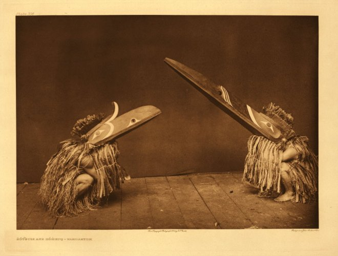 Edward S. Curtis - Kotsuis and Hohhuq (Nakoaktok) (1914)