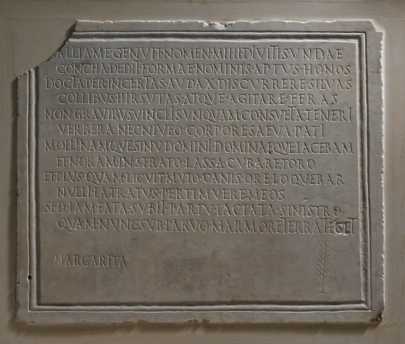 Epitaph for Margarita (Roman, 1st - 2nd Century AD)