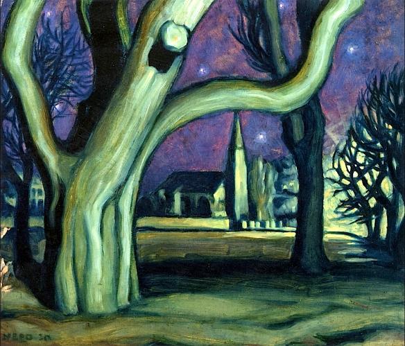 Ernst Nepo - Nocturnal Landscape (1920)