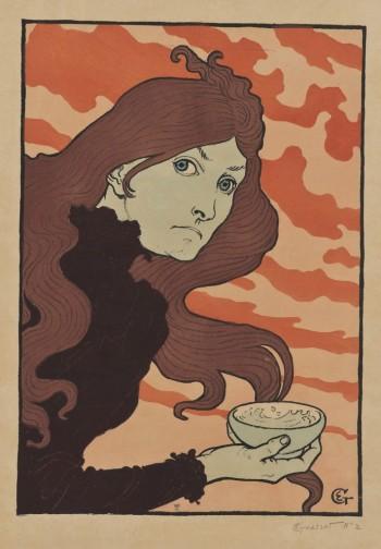 Eugène Samuel Grasset - La vitrioleuse [The Acid Thrower] (1894)