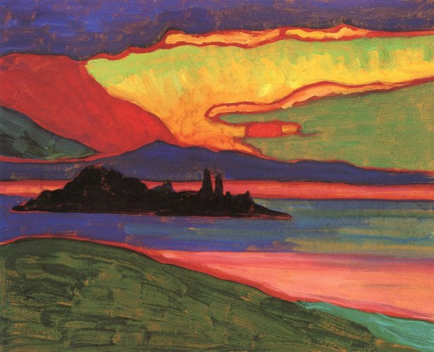 Gabriele Münter - Sunset over Staffelsee (c. 1908)