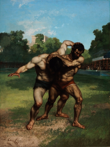 Gustave Courbet - Wrestlers (1852-53)