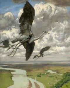 Hans Thoma - Wondrous birds (1892)