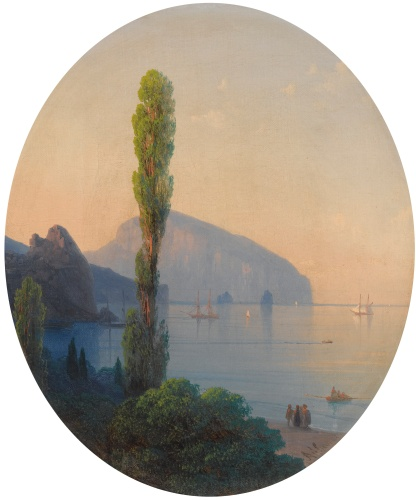 Ivan Konstantinovich Aivazovsky - View of the Ayu Dag (1869)