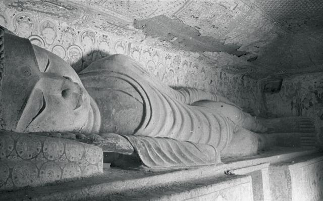James Lo (1940s) -Parinirvana, Mogao Cave 158, Middle Tang dynasty (781–848)