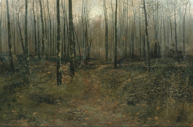 Joaquim Vancells - February Landscape (1891)