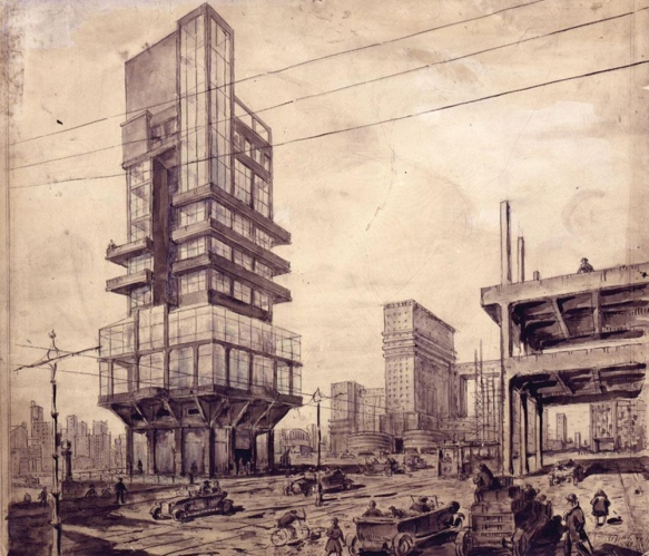 Lev Vladimirovich Rudnev - City of the Future (1927)