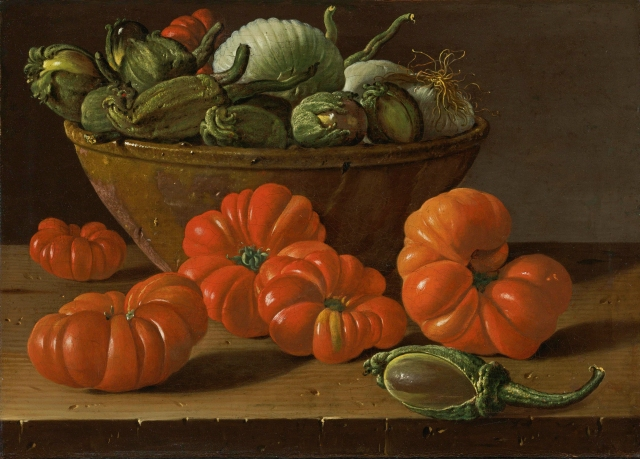 Luis Meléndez - Still Life with Tomatoes, a Bowl of Aubergines and Onions (c. 1771-1774)