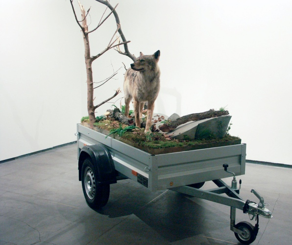 Mark Dion - Mobile Wilderness Wolf Unit (2006)