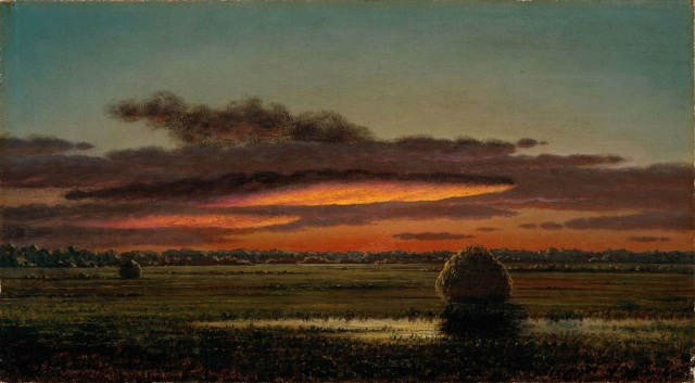 Martin Johnson Heade - Sunset Over the Marshes (1890-1904)