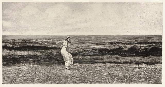 Max Klinger - By the Sea - Plate II from Intermezzos, Opus IV (1881)