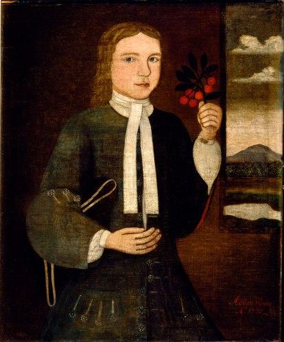 Peter Vanderlyn - Portrait of Adam Winne, (1730)
