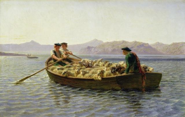 Rosa Bonheur - Changing Pastures (1863)