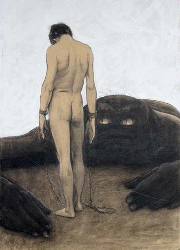 Sascha Schneider - Das Gefühl der Abhängigkeit (1894)