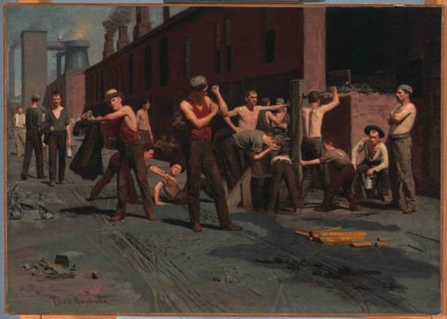 Thomas Anshutz - The Ironworkers' Noontime (1880)
