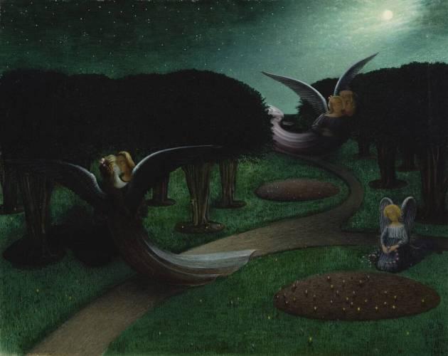 William Degouve de Nuncques - The Angels of Night (1894)