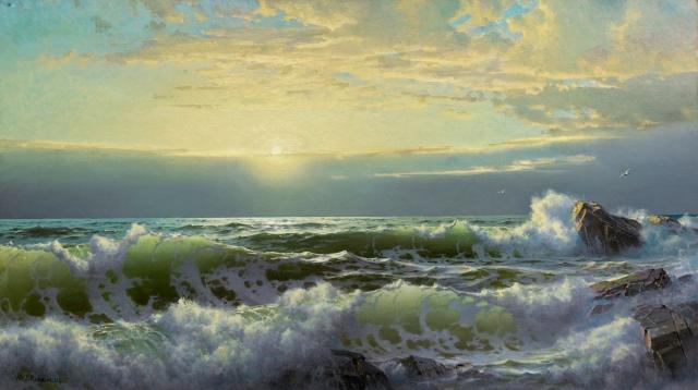 William Trost Richards - Off Conanicut, Newport (1904)