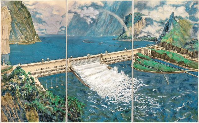Yang Jiechang - Crying Landscape - Three Gorges Dam (2002)