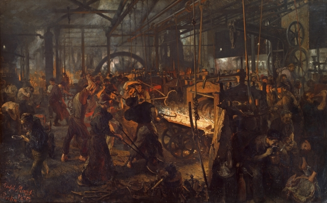 Adolph von Menzel - Iron Rolling Mill (Modern Cyclopes) (1872-1875)