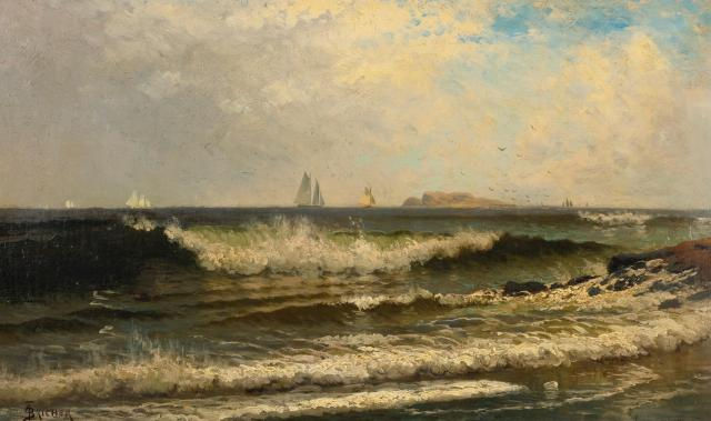 Alfred Thompson Bricher - Breaking Waves (c. 1882)