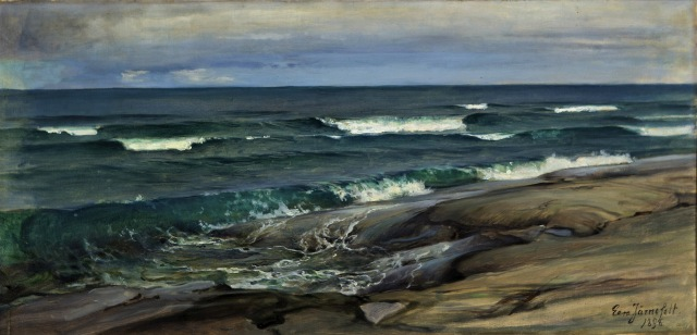 Eero Järnefelt - Rantamaisema Porkkalasta [Beach Scene, Porkkala] (1896)