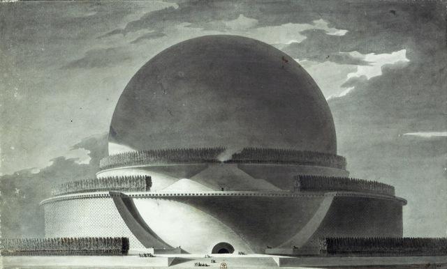 Etienne-Louis - Boullée Cénotaphe de Newton (1784)
