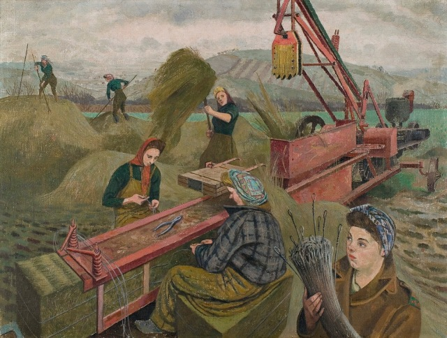 Evelyn Mary Dunbar - Baling Hay (1940)