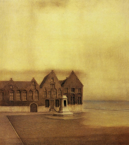 Fernand Khnopff - The Abandoned Town (1904)