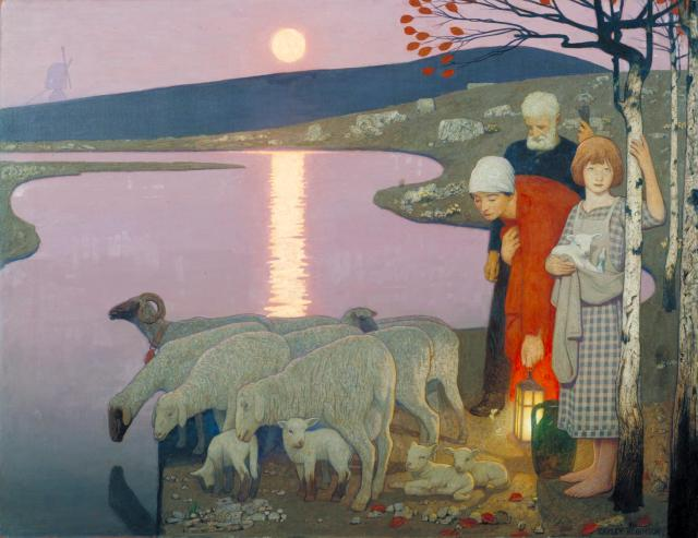 Pastoral 1923-4 by Frederick Cayley Robinson 1862-1927