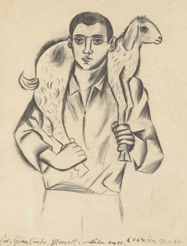 John Craxton - Boy with Kid (1948)