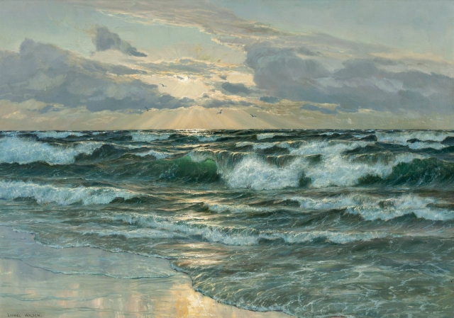 Lionel Walden - Sunrise on the Sea (c. 1900)