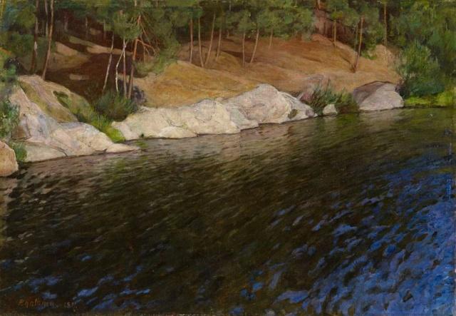 Pekka Halonen - Riverside (1897)