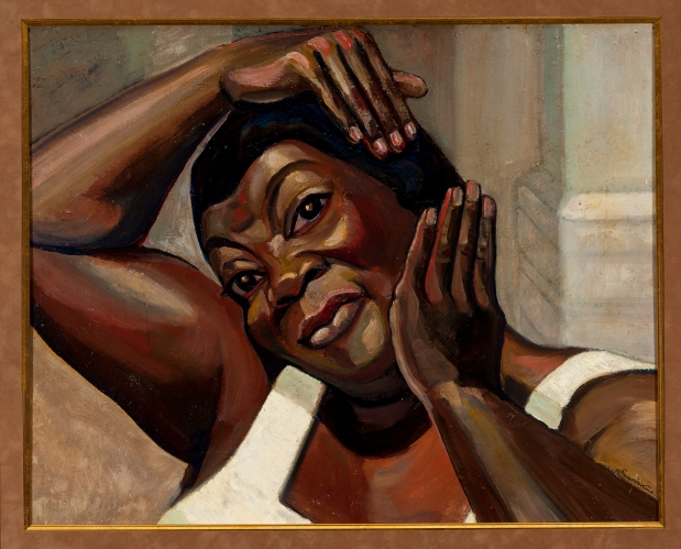 """Serge Sudeikin - Fixing her Hair (Ruby Elzy in """"Porgy and Bess,"""" 1935) (1935)"""