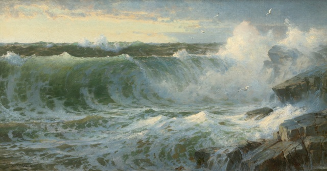 William Trost Richards - Rocky Surf off Rhode Island (1899)