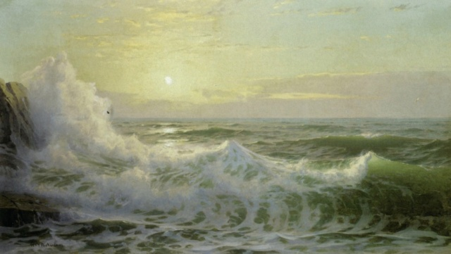 William Trost Richards - Sunlit Waves (1903)