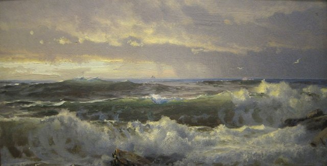William Trost Richards - Surf on Rocks (c. 1890-1900)