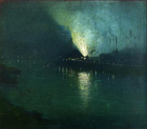 Aaron Harry Gorson - Steel Mills - Nocturne, Pittsburgh (c. 1903-1920)