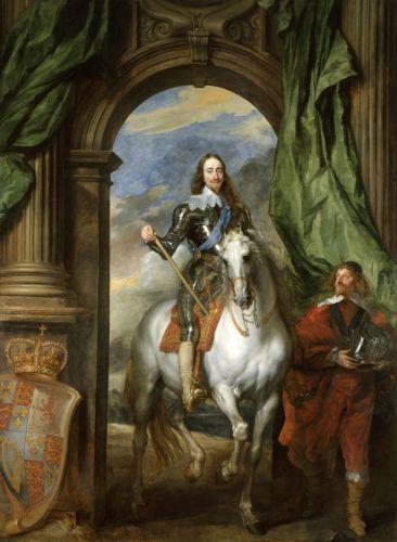 Anthony van Dyck - Charles I with M. de St Antoine (1633)