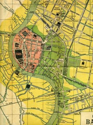 Bangkok Siam - Map (1928)