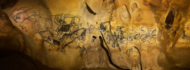 Chauvet Cave - Panel of the Lions (Aurignacian culture, ca. 45,000 to 35,000 ya)