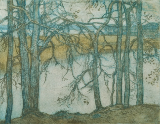 Eero Järnefelt - Bed of Reeds (1912)