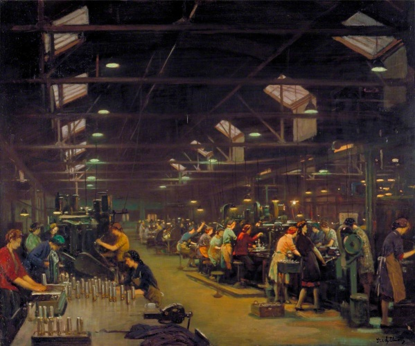 Elwell, Frederick William, 1870-1958; A Munitions Factory